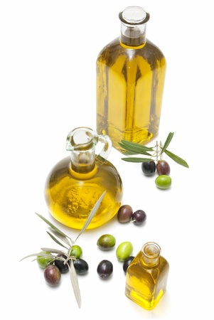 olive oil and oilves Stock Photo