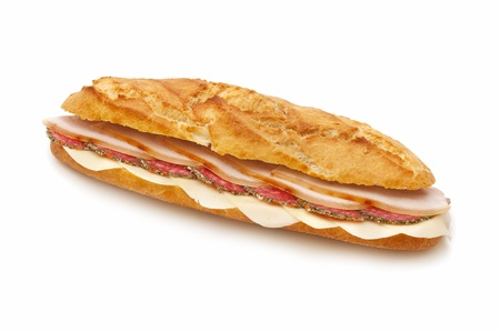 ham sandwich: sandwich isolated on white background
