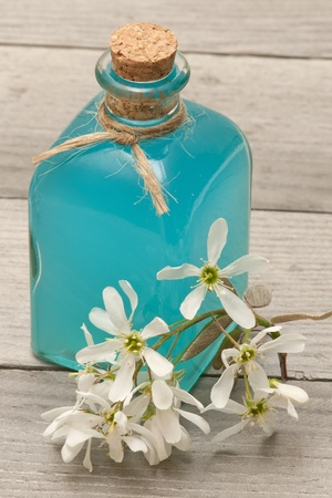 wooden aromatherapy: spa gel Stock Photo