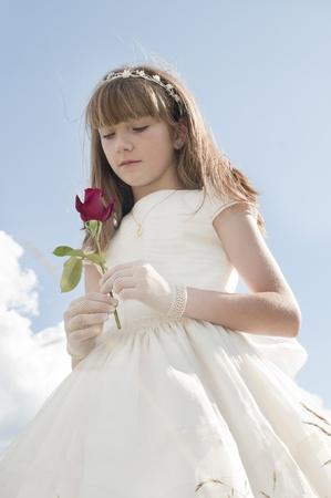niña de la comunión Stock Photo - 10082231