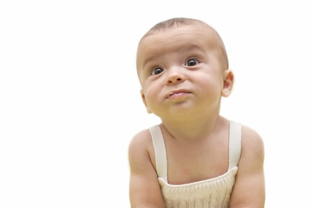 portrait of a beautiful baby isolated on white background Stock Photo - 10256961