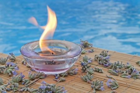 spa background with lavender herbs