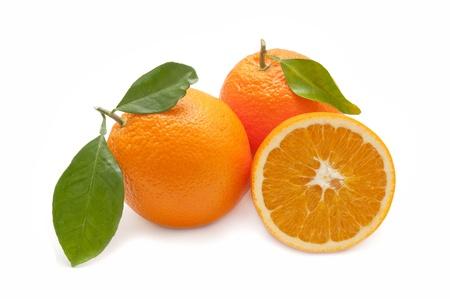 ecological orange on white background