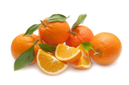 ecological orange on white background photo