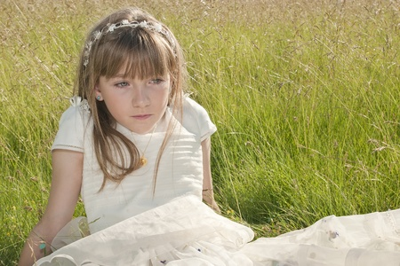girl communion  Stock Photo - 12886085