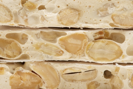 nougat: almond nougat Stock Photo