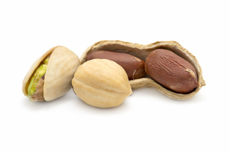 pistachios: nuts isolated on white background