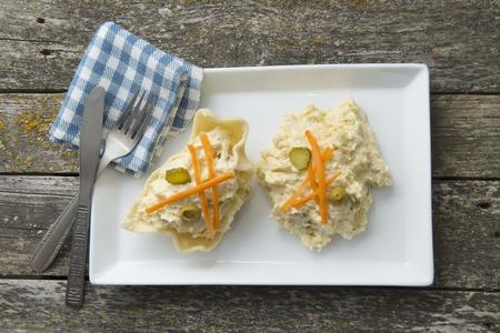huzarensalade: Russian salad, freshly cooked