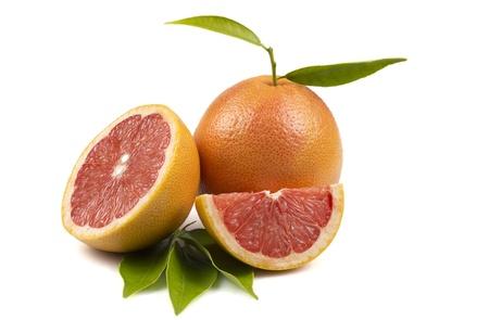 grapefruit on the white background Stock Photo - 14180142