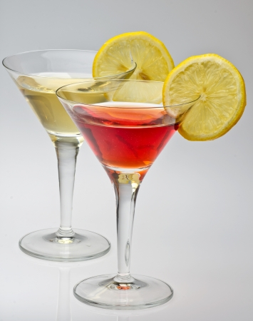 vermouth rosso   and white isolated on a white background