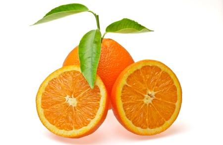 orange heart on white background Stock Photo - 15659884