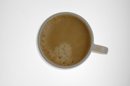 black coffee on the white background photo
