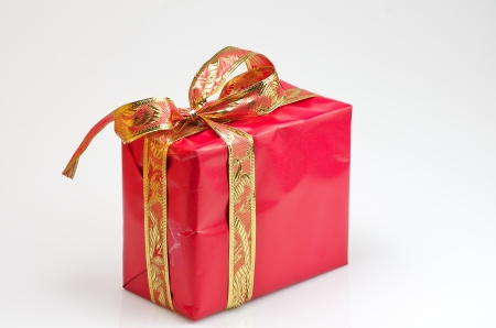 red gift box: red gift box with gold decoration