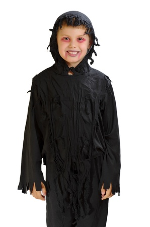 halloween child costume on white background Stock Photo