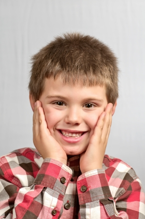child making ugly faces Stock Photo - 17191419