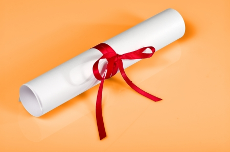macro photograph of a diploma artificial background