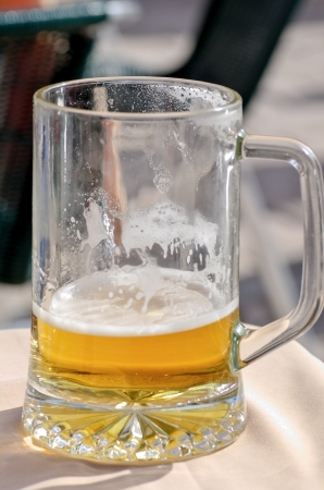 photograph of a pitcher of beer at a local beach on the island of Mallorca Stock Photo - 18000460