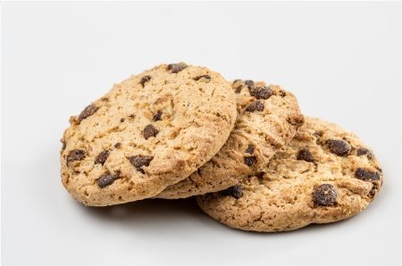 Macro photography cookies biscuits on white background Stock Photo - 18213744