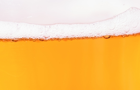 macro photography of beer on white background photo