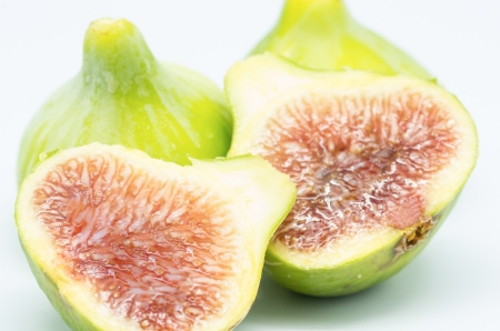 fig macro photography recently collected on white background Stock Photo - 21577359