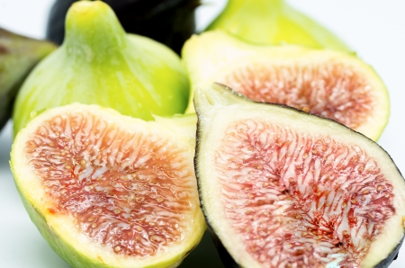 fig macro photography recently collected on white background Stock Photo - 21577360