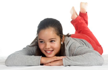 photographic portrait of a girl in a relaxed position