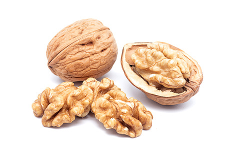 Product Photography California walnuts on a white background