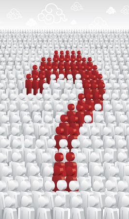 A multitude formulates a question  Vector
