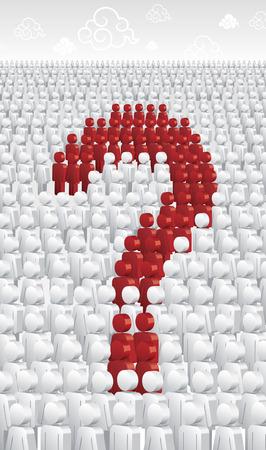 multitude: Una multitud formula una pregunta Vectores
