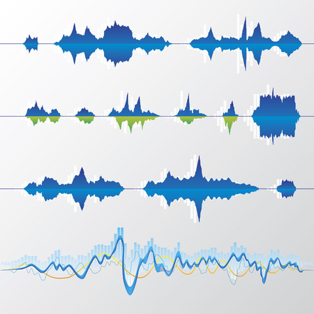 Collection of 13 waves  Vector