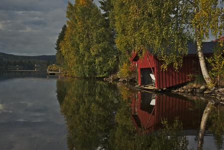 a lake like a mirror Stock Photo