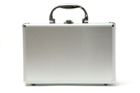 metallic briefcase