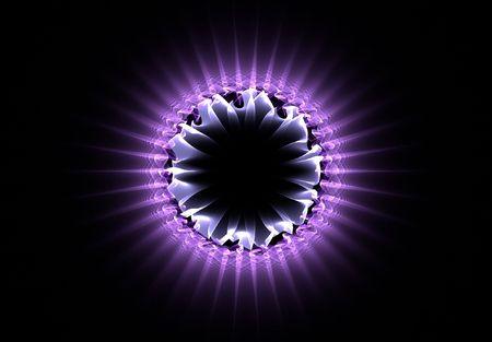 purple atom fractal photo