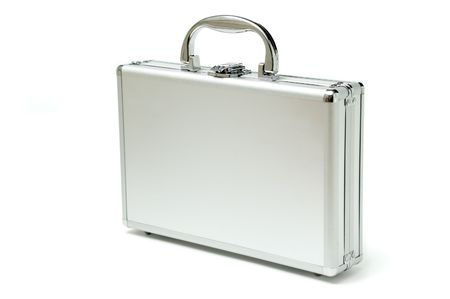 metallic briefcase photo
