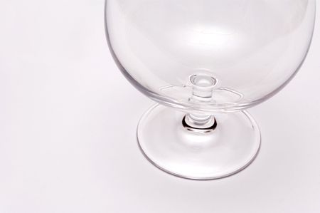 an empty wine glass on white background Stock Photo