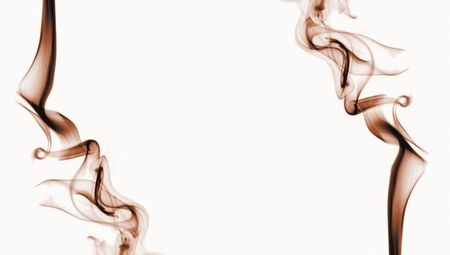 chocolate colored smoke against a light background photo