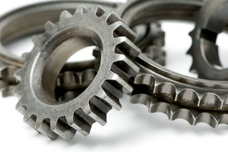 gears isolated over white photo