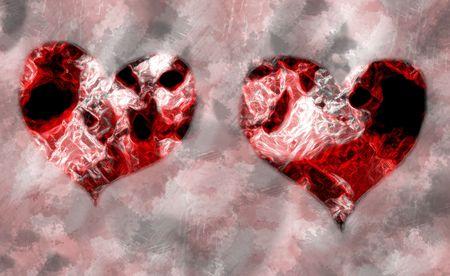 grunge hearts photo