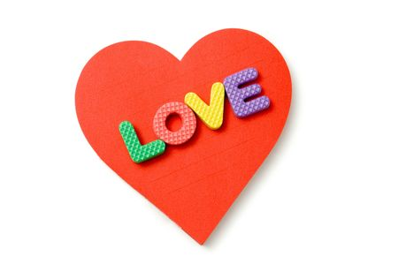 heart and foam letters