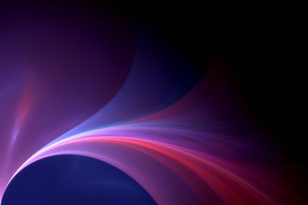 a colorful render of silky texture over black photo