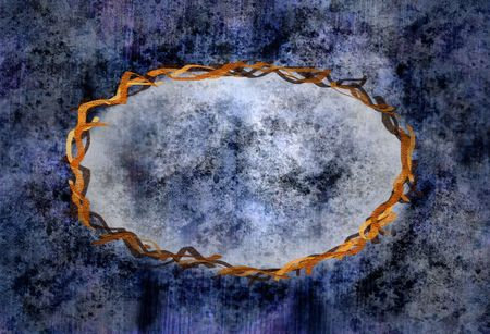 earthy: light and dark blue framed grunge background, please check out my portfolio for more! Stock Photo