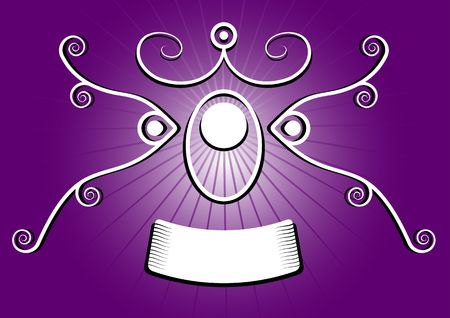 check out: stylized purple spirals banner over a gradient, please check out my portfolio for more!