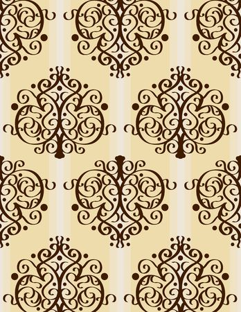 a vector seamless wallpaper wth some elegant patterns, please check out my portfolio for more! Stock Photo