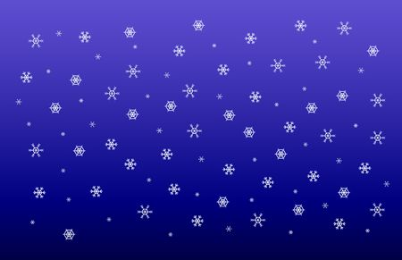 composition representing several kinds of snoflakes falling in the sky, please check out my portfolio for more!