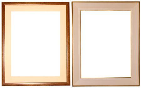 two elegant frames over white Stock Photo