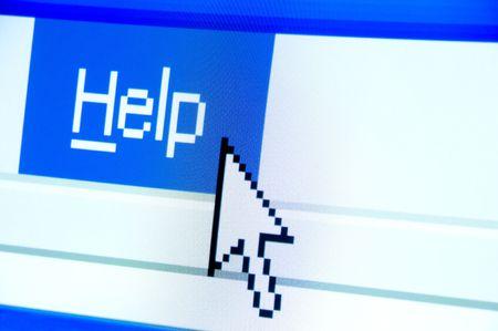 screenshot: help button screenshot with a white cursor