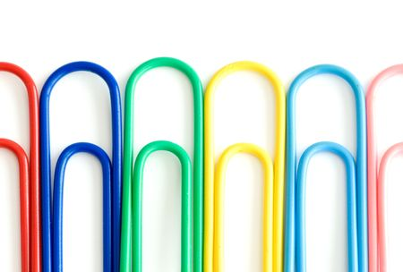 paper clip isolated over a white background photo