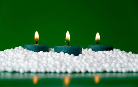 christmas candles arrangement in colorful festive themes Stock Photo - 3762725
