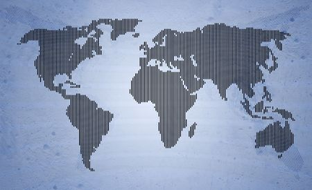 beautiful world map made of spots pattern Stock Photo