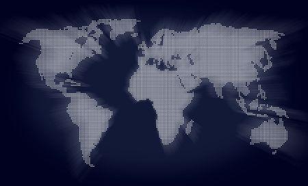 beautiful world map made of spots pattern Stock Photo